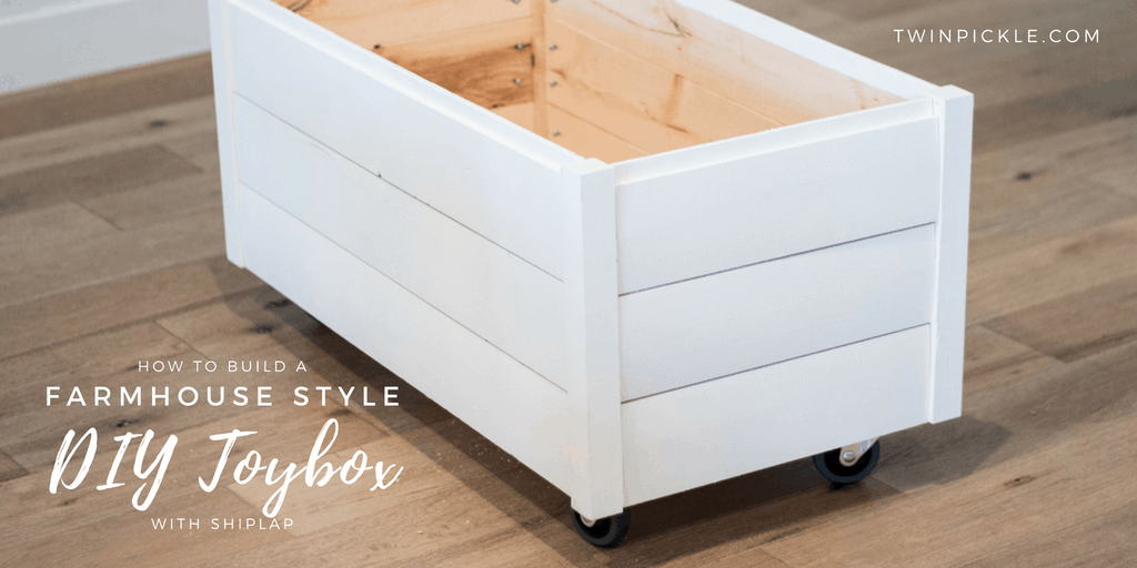 How To Build A Farmhouse Style Diy Toy Box With Shiplap