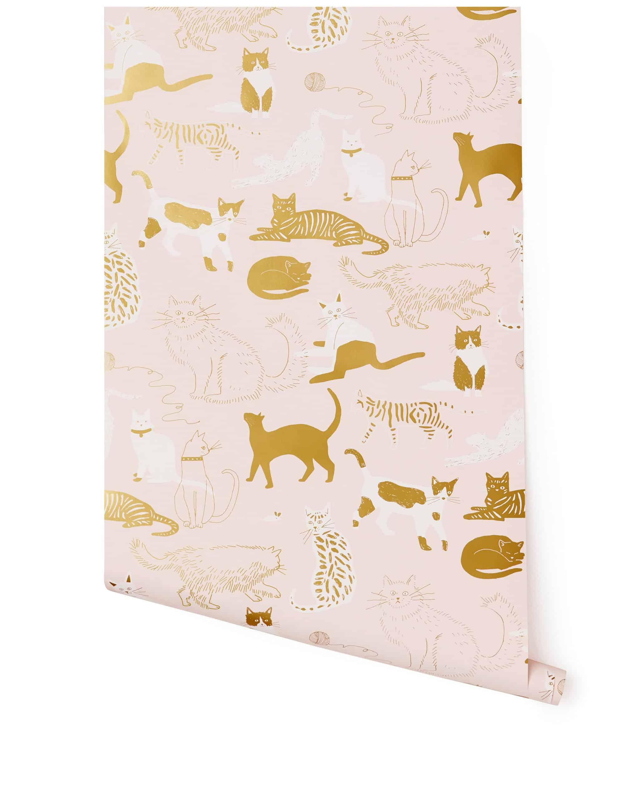 hygge & west cat wallpaper - Twin Pickle